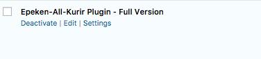 Link Settings untuk menuju ke layar Settings Plugin Epeken